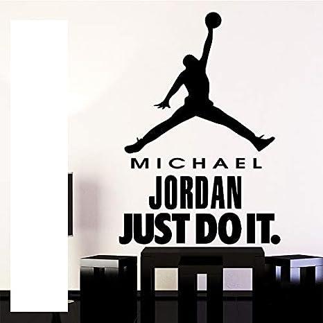 Estrella de baloncesto Just Do It Design Etiqueta de la pared para ...