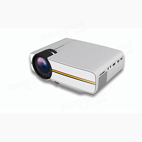 C&C Products YG-400 Mini LED Projector 1000 Lumens 800480 Support 1080P USB HDMI AV VGA SD Home Theater PC by C & C (Image #3)
