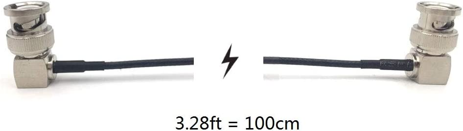 Right Angle to Right Angle, 100cm=3.28ft MCCAMSTORE 3G 50Ohm HD SDI Cable Male HD SDI Extension Cable for BMCC BMPC Hyperdeck Cameras Video Cable