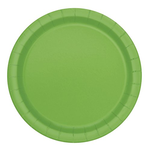[Lime Green Paper Plates, 16ct] (S Costume Ideas For Women)