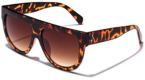 Women's Fashion Flat Top Super Future Sunglasses Retro Vintage ()