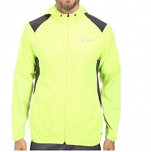 - NIKE 2016 Printed Packable Hooded Mens Golf Performance Golf Jacket Volt XL
