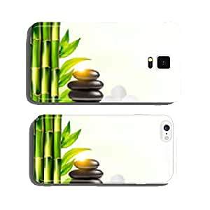 Spa background with bamboo and stones.Vector cell phone cover case iPhone6 Plus