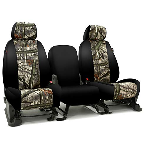 (Coverking CSC2MO03DG9711 Tailored Seat Covers Neosupreme Camo Mossy Oak Treestand with Black Sides for 2016-2018 Dodge Truck Ram 250,350,2500,3500 Full)