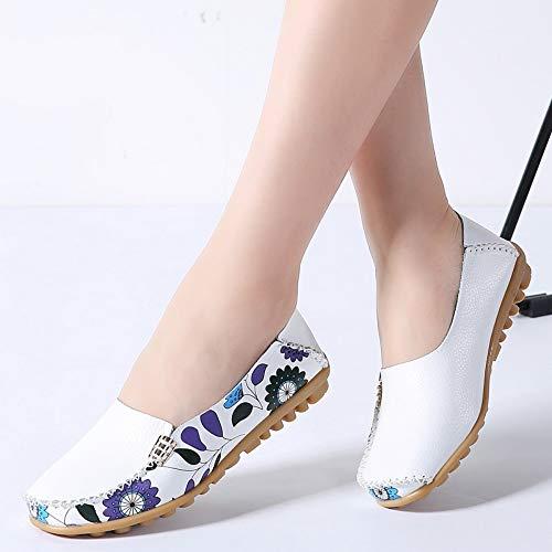 Resbalón Ballerines 37 Ballet Pisos Primavera En Genuinos 2019 Mujer Zapatos Mocasines Yopew ZRzqUYwR