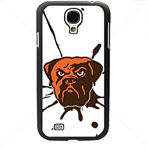 NFL American football Cleveland Browns Fans Samsung Galaxy S4 SIV I9500 TPU Soft Black or White case (Black)