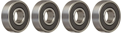 Four (4) 6000-2RS Sealed Bearings 10x26x8 Ball Bearings/Pre-Lubricated (Pack of 4)