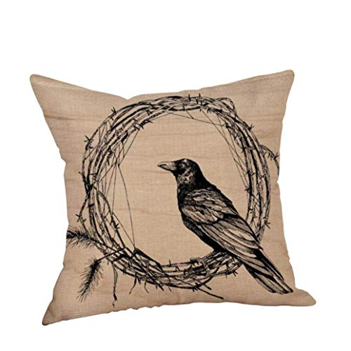 YOcheerful Clearance Deals Happy Halloween Pillow Cases Cusion Cover Home Decor (N,Free Size)