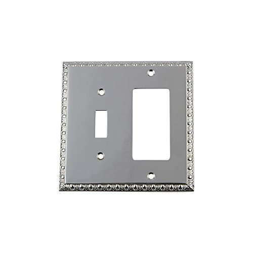 Dart Plate (Nostalgic Warehouse 719910 Egg and Dart Switch Plate with Toggle and Rocker, Bright Chrome)