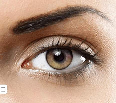 b1d473a16d4ae9 Lentilles de contact de Couleur naturelle (PURE HAZEL) Sans correction- 1  paire (