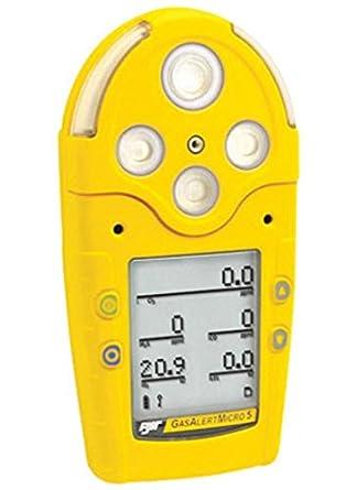 BW tecnologías amarillo GasAlertMicro 5 IR portátil combustible Gas, de monóxido de carbono, sulfuro de hidrógeno, ...