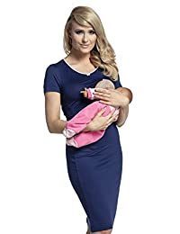 Happy Mama. Womens Maternity Nursing Breastfeeding Nightdress Shirt Gown. 274p