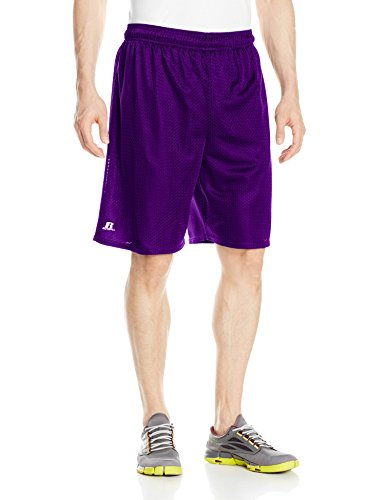 Russell Athletic Men's Mesh Shorts (No Pockets), Purple, Large