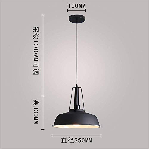 XQY Bedroom Living Room Decoration Chandelier,Chandelier, Irons Dining Table Simple Around The Table of Simple Light, Modern and Creative Lamp 35 33 cm Black Pendant Lamp Invisible for Bar Cafe Res