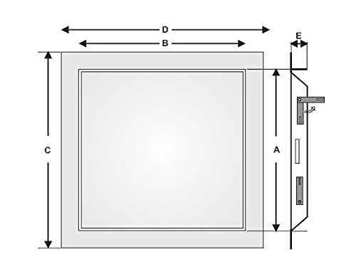 20'' x 20'' Access Panel - Steel Sheet with touch latch