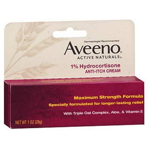 (Aveeno 1% Hydrocortisone Anti-Itch Cream, 1 Oz ( Pack of 3)