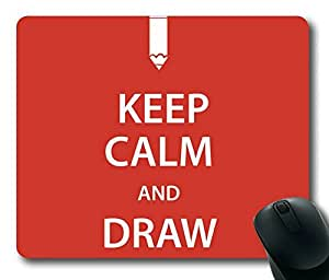 Keep Calm And Draw Rectangle mouse pad Your Perfect Choice