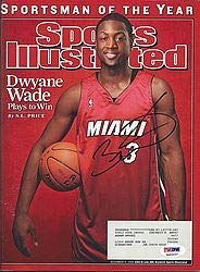 Dwyane Wade PSA/DNA Authentication Signed Sports Illustrated Siified Authentic - Autographed NBA Basketball Memorabilia