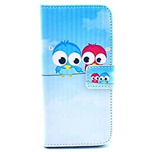 JOE Lover Owl Pattern PU Leather Cover with Stand and Card Slot for iPhone 6