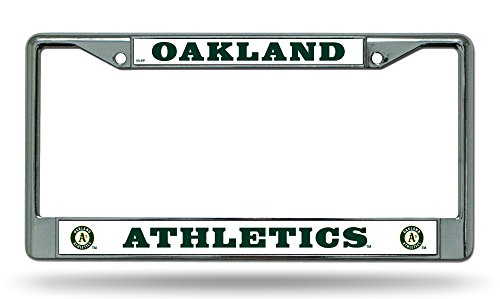 (Rico Industries, Inc. Oakland A's Athletics New BOLD Design Chrome Frame Metal License Plate Tag Cover Baseball)