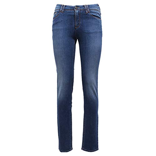 J28 Woman 6608y Armani Denim Blue Blu Jeans Trouser Donna w1wSqX0O