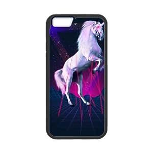 iPhone 6 Plus 5.5 Inch Phone Case Covers Black The last laser unicorn LRB Back Unique Cell Phone Case
