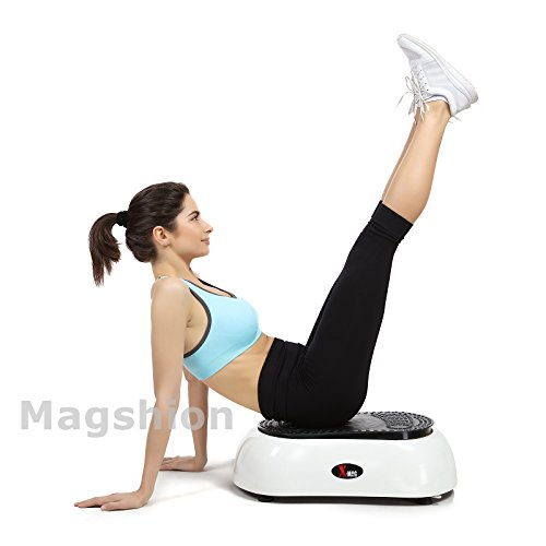 X-MAG Portable Whole Body Vibration Fitness Trainer Platform Machine with Straps, White by X-MAG (Image #4)