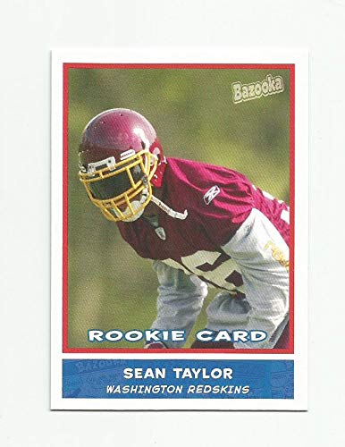 2004 Bazooka Standard Size Sean Taylor Washington Redskins Rookie Card #174 - Near Mint/Mint