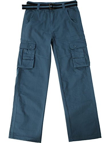 Ma Croix JP Mens Cargo Pants with Utility Belt (40/ pj01_dkblue) by Ma Croix