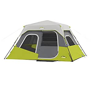Core Equipment 11 x 9-Foot 6-Person Instant Cabin Camping Tent | COR-40007