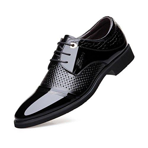 ZFAFN? Scarpe Uomo Pelle Stile Formale, Elegante Punta di Piedi Stringate Basse Sera, Comfort Uomini Pelle Matrimonio Scarpa, 38