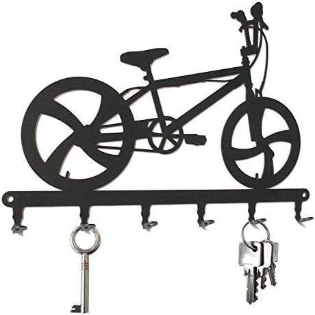 Tabla/Colgador de llaves * BMX Bicicleta, tarjeta de llave * - Colgador para llaves, metal - 6 ganchos: Amazon.es: Hogar