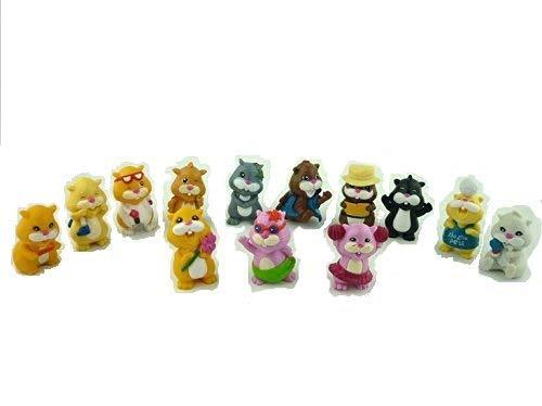Cute Adorable Mini Chipmunks Fun Party Play Toy Set of 12 + 1 Bonus pcs by Teddy's Toys]()