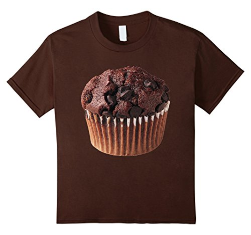 [Kids Chocolat Muffin Last Minute Halloween Costume T-shirt 6 Brown] (Last Minute Halloween Costumes Couples)