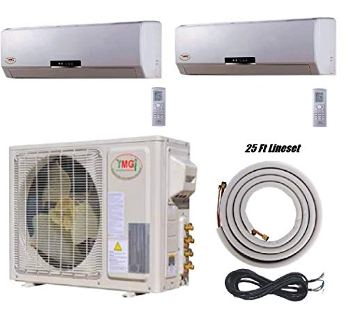 System Pump Dual (YMGI-24000 BTU 12000+12000 DUAL ZONE DUCTLESS MINI SPLIT AIR CONDITIONER Heat Pump)