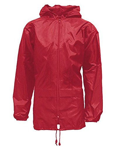 Adults Mens Womens Unisex Kagool Rain Jacket_JKT335_AdultsKagool_CherryRed_XL