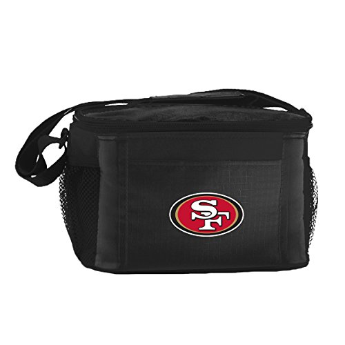 [NFL San Francisco 49ers Insulated Lunch Cooler Bag with Zipper Closure, Black] (Nfl Lunch Cooler)