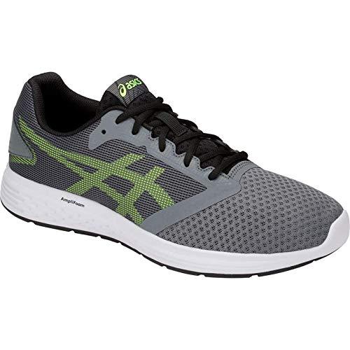 ASICS Patriot 10 Men's Running Shoe, Steel Grey/Hazard Green, 15 D US