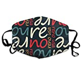Unisex Reno USA Pattern Printed Cotton Mouth-Masks Face Mask Polyester Anti-dust Masks