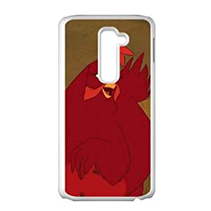 LG G2 Cell Phone Case White Home on the Range Character Audrey the Chicken O4492936