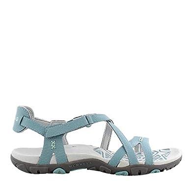 Durable shoes Merrell Sandspur Rose Crown Blue Sandals Women