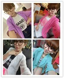 2013 spring new women loose chiffon shoulder pads long thin suit jacket and long sections Slim small suit