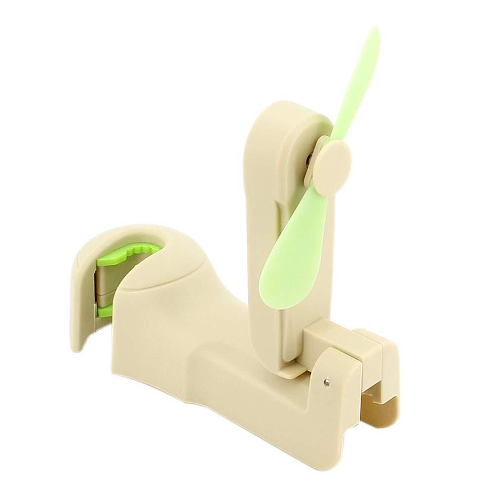 Guajave 2Pcs Car Seat Back Headrest Hook with Fan Multifunction USB Rechargeable Mini Cooler Fan