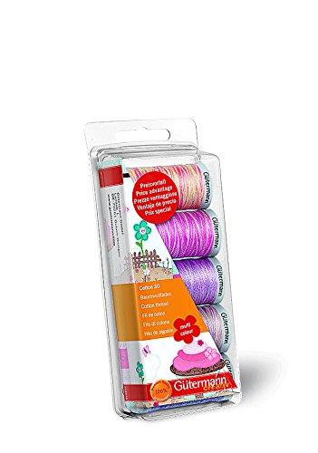Gutermann Embroidery 30 - Lote de carretes de Hilo para máquina de Coser (100%