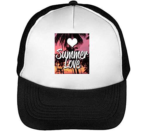 Hombre Gorras Heart Fashioned Beisbol Negro Snapback Blanco Summer zqtRFcwnw