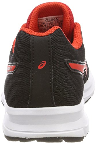 Asics Patriot 9 GS, Zapatillas de Running Para Niños Negro (Black/fiery Red/white 9023)