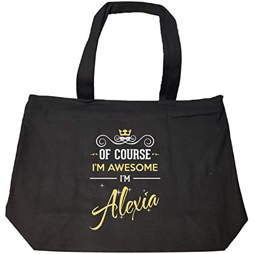 Of Course I'm Awesome I'm Alexia Birthday Xmas Gift - Tote Bag With Zip