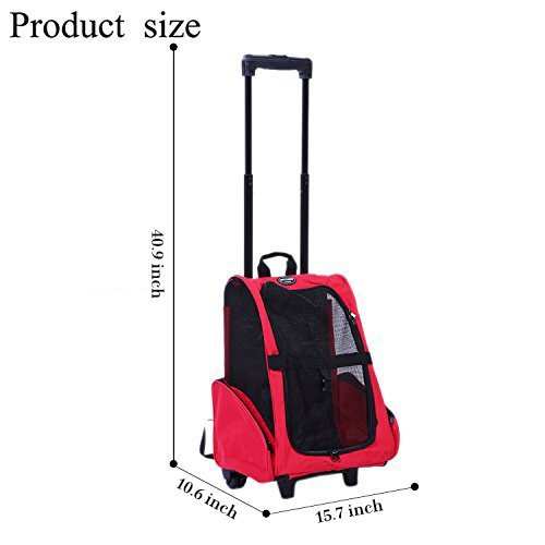 Meiying Roll Pet Carrier for Travel Airline