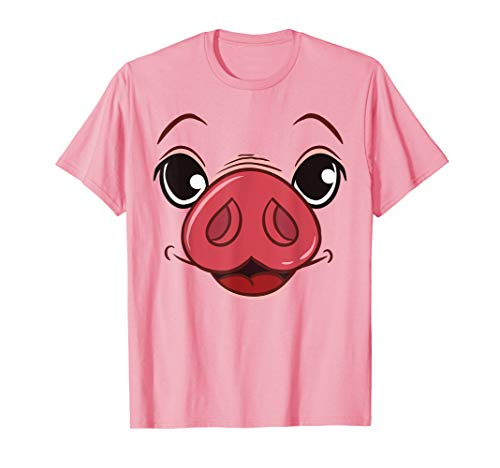Funny Halloween Pig Face Costume t-shirt Cute Pig shirt]()