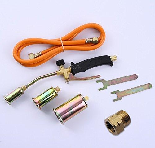 Gasbrenner Abflammgerät Brenner Löten Gaslötgerät Dachbrenner 3tlg. Adapter